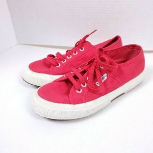 SUPERGA 5.5 Red Flat Sneakers Lace up Low top